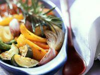Geschmortes Gemüse aus dem Ofen Rezept