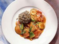 Geschmortes Gemüse mit Wildreis Rezept