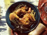 Geschmortes Hähnchen mit Gemüse Rezept