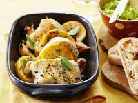 Geschmortes Hähnchen mit Zitrone Rezept