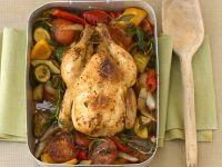 Geschmortes Hühnchen mit Gemüse und Kräutern Rezept
