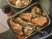 Geschmortes Kaninchen auf italienische Art Rezept