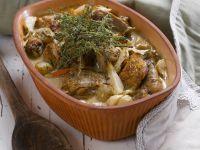 Geschmortes Kräuterhähnchen mit Pastinaken Rezept