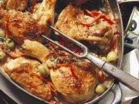 Geschmortes Paprikahähnchen Rezept