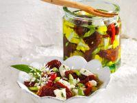 Getrocknete Tomaten mit Feta, Kapern und Bärlauch Rezept