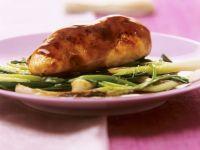 Glasierte Hähnchenbrust mit Frühlingszwiebeln Rezept