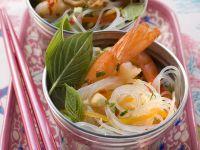 Glasnudel-Shrimps-Salat Rezept