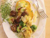 Gnocchi mit Maroni und Rosenkohl Rezept