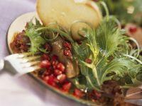 Granatapfel-Entenleber-Salat Rezept