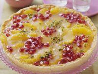 Granatapfel-Orangen-Tarte Rezept