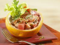 Grapefruit-Crevetten-Salat Rezept