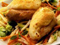 Gratinierte Hähnchenbrust auf Gemüse Rezept