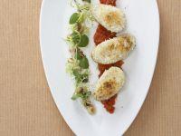 Gratinierte Kartoffeln mit Mont d'Or und Aprikosen-Tomaten-Chutney Rezept