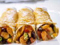 Gratinierte Tortillaröllchen Rezept