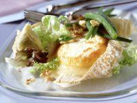 Gratinierter Ziegenkäse mit Artischocken-Bohnen-Salat Rezept