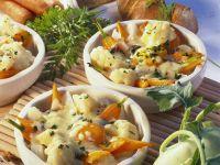 Gratiniertes Gemüse mit Ei und Käse Rezept
