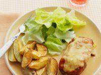Gratiniertes Steak mit Kartoffelecken Rezept