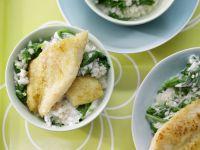 Graupenrisotto mit Fischfilet Rezept