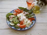 Griechischer Salat mit Spinat Rezept