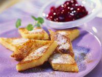 Grießschnitten mit Kirschkompott Rezept