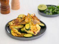 Grill-Halloumi mit Mango und Zucchini Rezept