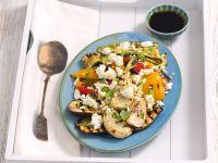 Grillgemüse mit Feta und Balsamicodressing Rezept