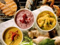 Grillsoßen für Fisch und Shrimps