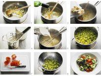 Grüne Nudeln mit Käsesoße Rezept