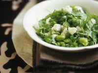 Grüner Bohnen-Erbsensalat Rezept