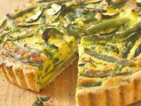 Grüner Gemüsekuchen mit Schafskäse Rezept