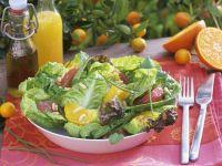 Grüner Salat mit Grapefruit- und Orangenfilets Rezept