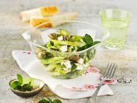 Grüner Spargelsalat mit Feta Rezept
