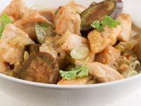 Grünes Curry mit Hühnchen