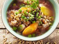 Grünkern-Gemüsesuppe