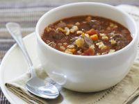 Gulasch-Gersten-Suppe