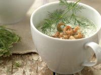 Gurken-Krabbensuppe mit Dill Rezept