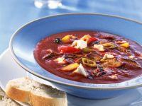 Gyros-Tomatensuppe mit Feta Rezept
