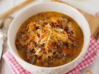 Hackfleisch-Gemüsesuppe Rezept