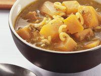 Hackfleisch-Kürbissuppe mit Nudeln Rezept