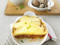 Hackfleisch-Lasagne mit Kartoffeln und Champignons Rezept