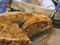 Hackfleisch-Pie mit Champignons Rezept