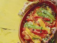 Hackfleisch-Reisauflauf mit marinierten Paprika Rezept