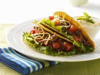 Hackfleisch-Tacos mit Tomaten und Käse Rezept