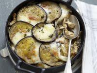 Hähnchen-Auberginengratin mit Pilzen Rezept
