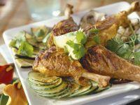 Hähnchen auf Tandoori-Art mit Gemüse und Koriander Rezept