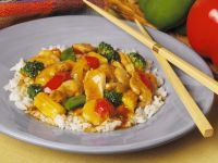 Hähnchen-Gemüse-Ragout mit Reis Rezept