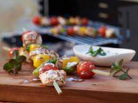 Hähnchen-Gemüse-Spieße Rezept