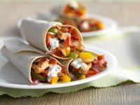 Hähnchen-Gemüse-Tortillas Rezept
