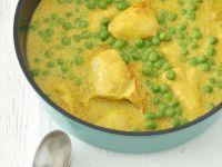 Hähnchen in Curry-Erbsen-Soße Rezept