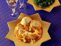 Hähnchen mit Gemüse und Blätterteig Rezept